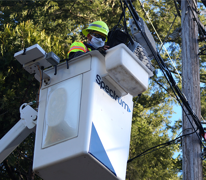 Spectrum Tech in Bucket Truck