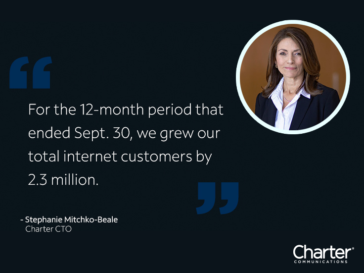 Quote and image of Charter CTO Stephanie Mitchko-Beale